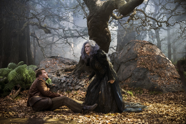 Meryl Streep as the witch and James Cordon as the Baker